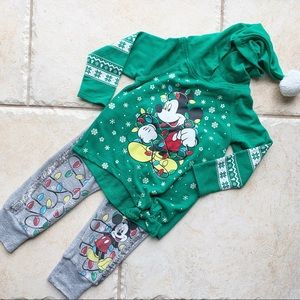 Girls Mickey Mouse Christmas Pajamas 18M